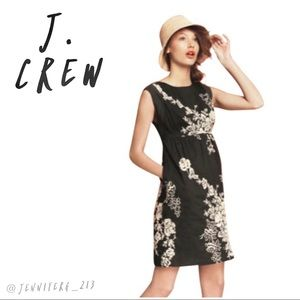 J.Crew Gray Ivory Mirabel Embroidered Floral Dress